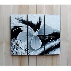 Lukisan Bunga Hitam Putih