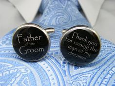 Father of the Groom Cufflinks  Thank you for by UpscaleTrendz