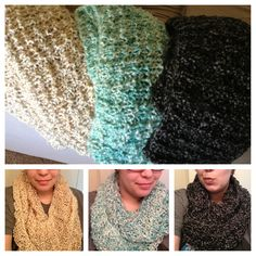 #knitted #infinity #scarves had a productive day today!