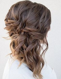 Voluminous Side-Swept Curls - Stunning Wedding Hair Ideas to Steal For Your Big Day - Livingly