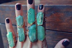 Chrysoprase Gold Bohemian Layering Necklace by luxdivine on Etsy
