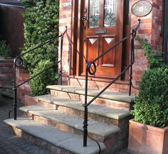 Blacksmith Made Callagraphic Handrails | Flickr   Photo Sharing! Porch  RailingsStair ...