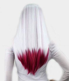 Silver and blood red hair.                                                                                                                                                                                 More