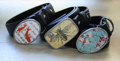 sweetness. vintage prints and illustrations become interchangeable belt buckles.