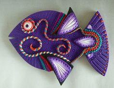 Fiesta Fish Magnet or Wall Art in Purple by MysticDreamerArt, $15.00