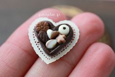 Chocolate Pralines  Sweet Valentine's Day  Dollhouse by PetitPlat - l see alot of miniatures in polymer clay but this shop is seriously good