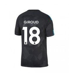 Chelsea Olivier Giroud 18 Tredje Tröja 17-18 Kortärmad Chelsea Fc, Premier League, 18th, Mens Tops, Chelsea F.c., Chelsea