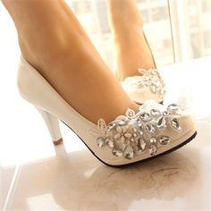 7aa54dd1918 YONSIG New Style Beautiful Super Immortal Hand-Made Lace Flower Rhinestone  Bridal High Heel Shoes - DinoDirect.com
