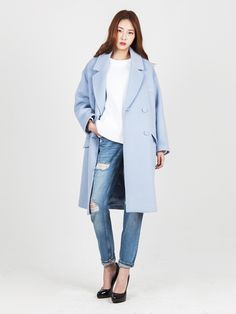 LOOKAST CHAPTER #6 - Sky blue 4 pocket oversized coat