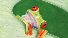 Pretty Frog | Learn to draw this colourful Frog using Pastel Pencils