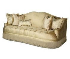 AICO Furniture - Imperial Court Tufted Sofa-Group 2-Opt 2 - 79815-PEARL-00