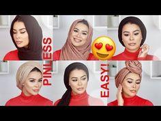 6 PINLESS & EASY FLAWLESS HIJAB TUTORIALS - YouTube Hijab Bride, Pakistani Wedding Dresses, Nigerian Weddings, African Weddings, Muslim Couples, Muslim Brides, Habiba Da Silva, Pashmina Hijab Tutorial, Turban Hijab