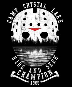 Hide and seek champion 1980 - NeatoShop Halloween Movies, Scary Movies, Halloween Shirt, Halloween Humor, Funny Movies, Jason Voorhees, Horror Decor, Horror Films, Horror Merch