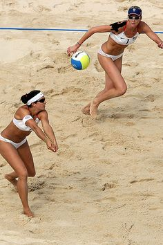 """The abundance of agility and focus and determination. The abundance of """"knowing"""". (Misty May-Treanor and Kerri Walsh)"""