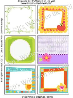 {FREE Lunchbox Notes-36 in Collection} Blank Lunchbox Notes for you to fill in.