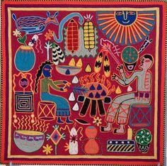 Huichol Yarn Artwork