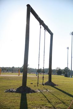 MARINE CORPS AIR STATION CHERRY POINT, N.C. (October 11, 2012) – The newly reconstructed obstacle course sits behind the Marine Dome aboard Marine Corps Air Station Cherry Point. The obstacle course seated across from the station mess hall had been removed in order to build new living quarters aboard Cherry Point back in March of this year.