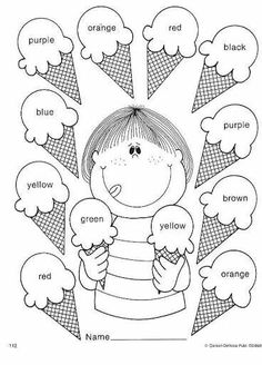 Kid Activities English Lessons Los Colores En Ingles Mas is part of English classroom - English Worksheets For Kids, English Lessons For Kids, Kids English, English Activities For Kids, English English, Preschool Learning Activities, Preschool Worksheets, Teaching Kids, Color Activities
