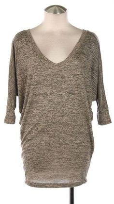 Heather Knit Dolman Tunic - Taupe - $26 :: Free Shipping