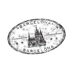 Vector: Barcelona grunge rubber vector stamp