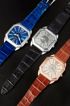 The three amigos Swiss Luxury Watches, Luxury Watches For Men, Signature Design, Square Watch, Automatic Watch, Chronograph, Steel, Diamond, Accessories