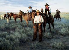 """""""Round-Up Wyoming"""", by American artist - Robert Duncan (1952 - )"""