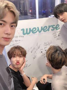 Hoseok, Jimin, Jin and Taehyung. Jimin, Bts Bangtan Boy, Bts Taehyung, Jhope, Foto Bts, Bts Photo, Seokjin, Hoseok, Namjoon