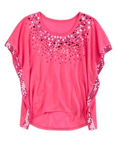 Girls Clothing | Short Sleeve | Embellished Circle Top | Shop Justice