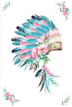 Items similar to Baby blanket quilt headdress indian feather blanket turquoise pink minky dot on Etsy Indian Headdress Tattoo, Feather Headdress, Tattoo Plume, Feather Blanket, Indian Feathers, Pink Turquoise, Native American Art, Watercolor Art, Dream Catcher