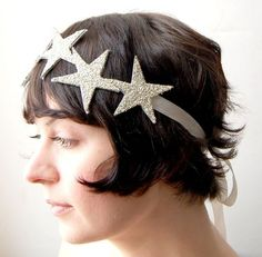 glitter star headband. so so pretty.