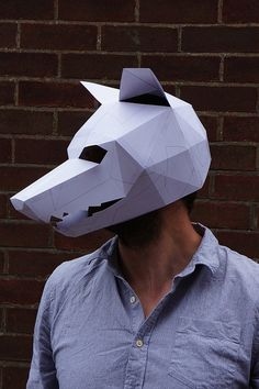 02d2f66b569 Wolf Mask - Make your own with this simple PDF Download. Great for  Halloween.