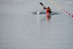 Canadian Adam van Koeverden competing in the 2008 Olympic Games. Adam has won 3 Olympic medals in kayaking. I hope that he wins another gold medal for Canada!