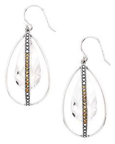 Happy Hour Earrings, $69 (Marcasite, Sterling Silver, Swarovski Crystal). Shop them here:  https://mysilpada.com/shop/product/happy-hour-earrings-W3189