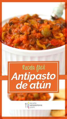 My Recipes, Healthy Recipes, Venezuelan Food, Antipasto Salad, Comida Latina, Canapes, Chana Masala, Chutney, Clean Eating