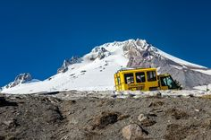Timberline Sno-Cat. Fine Art Oregon Photography Print for Home Decor Wall Art. A yellow Sno-Cat with Palmer Snow Field in the background just outside Timberline Lodge. Mt Hood National Forest, Oregon. ~~ SELECT DESIRED SIZE USING THE OPTIONS BUTTON ABOVE ADD TO CART. Available in: 5x7, 8x10, 11x14, 12x18, 16x20, 20x30, 24x36 prints.