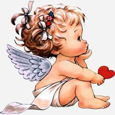Little Angel ¦ Ruth Morehead Angel Pictures, Cute Pictures, Baby Engel, Tattoos Familie, Mosaic Pictures, Cross Paintings, Angel Art, Cute Illustration, Christmas Angels