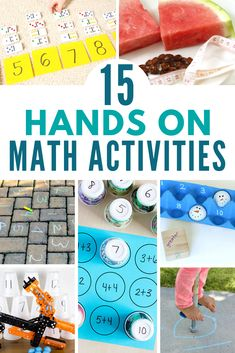 FUN Math Activities that will have your kids excited to learn, you've come to the right place! Read on to find 15 engaging, hands-on games, projects, and activities that will get your kids excited about math! School Age Activities, Math Activities For Kids, Fun Math Games, Math For Kids, Educational Activities, Summer Activities, Multiplication, School Fun, Summer School