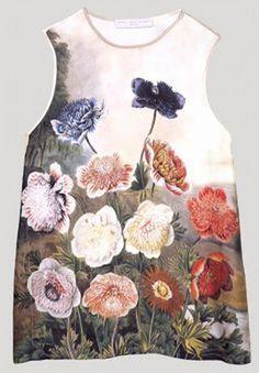 Stella McCartney Floral Print Silk Sleeveless Top SZ 42 = US 6 NWOT #StellaMcCartney #Sleeveless