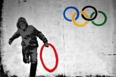 Stealing an Olympic ring.