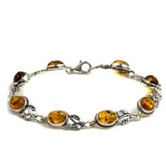 Honey Amber Sterling Silver Grapevine Bracelet 75 *** Learn more by visiting the image link.