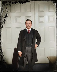 President Teddy Roosevelt, 1900 | from History in Color: 25 famous black and white photos colorized and brought back to life