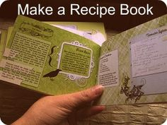 DIY Recipe Book... Grandma's recipes in a memory booklet - christmas gift idea for mom and aunt!