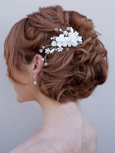 Mother of Pearl Bridal Hair Comb by Hair Comes the Bride  www.HairComestheBride.com  6/23/13