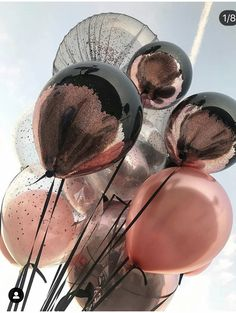 - Fashionaddict - Beautiful balloons🎈 Tag someone who would love this☝️👯 .Sexy balloons being sexyRose, Black, and glitter balloonsBalloons' by Juampi*Have a great birthday Cute Wallpapers, Wallpaper Backgrounds, Iphone Wallpaper, Balloon Decorations, Birthday Decorations, Balloon Ideas, Metallic Balloons, Metallic Pink, Pink Balloons