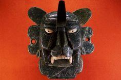 mascara del Dios Murciélago, Cultura zapoteca, Monte Albán, Oaxaca Museo Nacional de Antropología e Historia