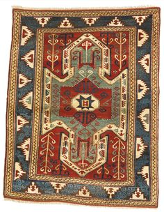A Sewan Kazak rug, Southwest Caucasus, approximately 6ft 4in. by 4ft. 11in. (1.93 by 1.50m.),  circa 1875
