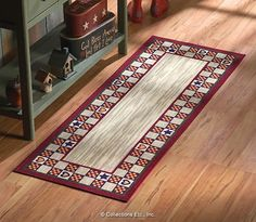 Lovely Country Primitive Hearts U0026 Stars Accent Runner