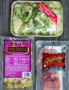 Tortellini Pasta Salad With Prosciutto and Brussels Sprouts A Week's Worth Of Trader Joe's Lunches You Can Make On A Budget Trader Joe's, Trader Joes Food, Trader Joes Salad, Trader Joe Meals, Pasta Salad With Tortellini, Cheese Tortellini, Marinated Vegetables, Joe Recipe, 3 Ingredients