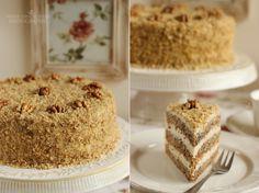 ...konyhán innen - kerten túl...: Diótorta Other Recipes, Sweet Recipes, Hungarian Recipes, Almond Cakes, Cake Cookies, Vanilla Cake, Cookie Recipes, Mousse, Food And Drink