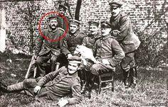 Adolf Hitler during WWI .